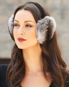 Exquisite Chinchilla Fur Earmuffs