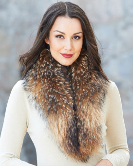 Emma Large Detachable Finn Raccoon Fur Collar