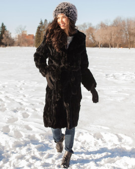 Florence Rabbit Fur Coat