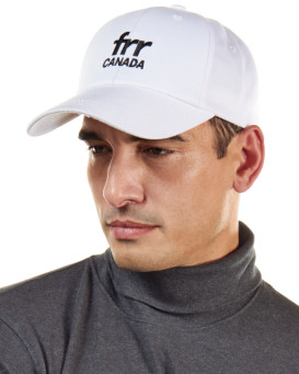 Frr Canada Brand Base Ball Cap in White