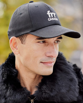 Frr Canada Brand Base Ball Cap in Black for Men