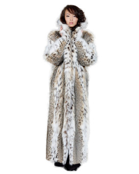 Women's Natasha Full Length Lynx Fur Stroller Coat