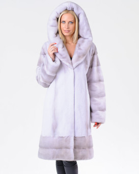 Harmony Cool Silver Mink Coat