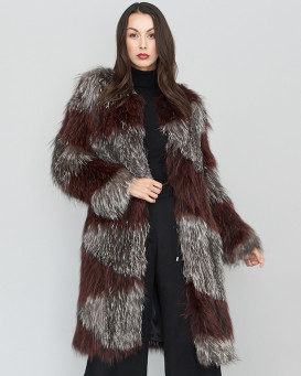 Harper Knitted Fox Fur Coat