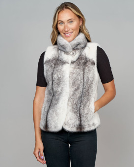 Icon Blackcross Long Hair Mink Fur Vest