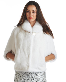 Jennifer White Mink Bolero Jacket