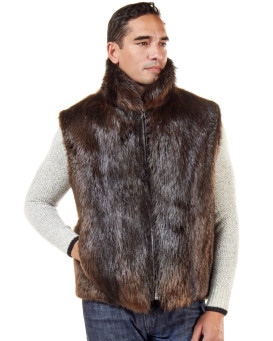 The Ethan Beaver Fur Vest for Men