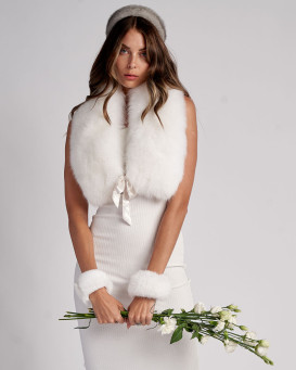 Karlie White Fox Fur Wrap