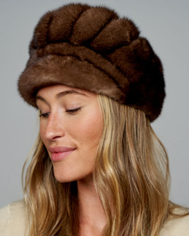 Kaycee Brown Mink Equestrian Hat