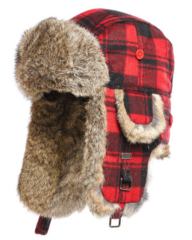 Kids Buffalo Check Rabbit Aviator Hat