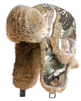 Kids Camo Rabbit Aviator Hat