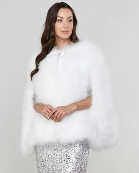 Lennon White Feather Caplet with Sleeve Entry