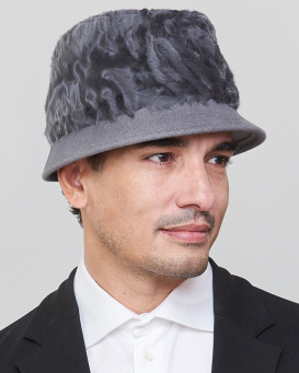 Logan Short Brim Fedora Bucket Hat in Grey for Men
