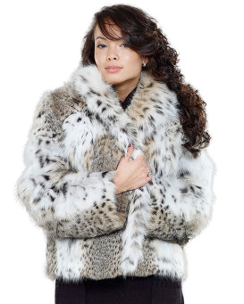 The Annabella Lynx Fur Bolero Jacket for Women