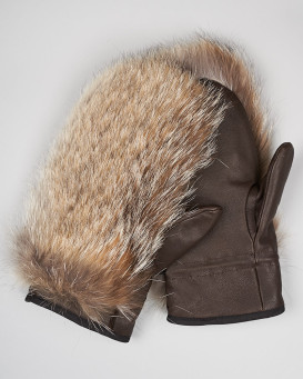 Men's Coyote Fur Mittens