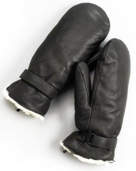 Leather Ultimitt Klondike Mittens in Black