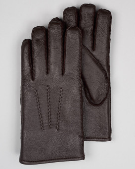 Men's Minnesota Brown Napa Leather Shearling Sheepskin Gloves
