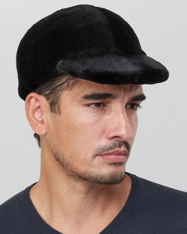 Daniel Sheared Mink Fur Drivers Cap for Men