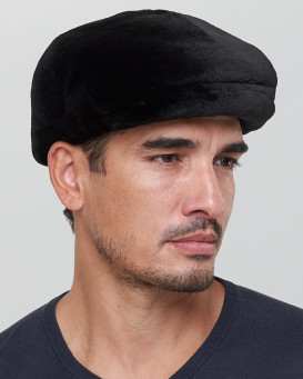James Sheared Mink Fur Flat Cap