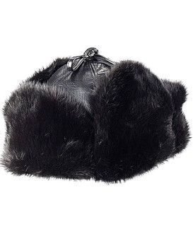 Black Mink Trapper Hat for Men