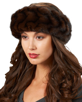 Mahogany Mink Pleated Headband
