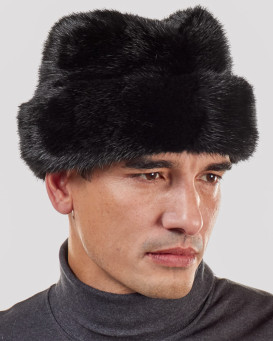 Black Mink Russian Cossack Hat for Men