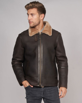 Morris Shearling Sheepskin Men's Bomber Jacket