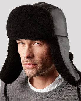 Mouton B-3 Sheepskin Aviator Hat for Men