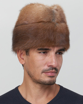 Muskrat Fur Envoy Hat for Men