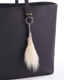 Natural Small Coyote Fur Key Chain