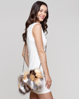 Paris Harvest Fox Fur Purse/Clutch