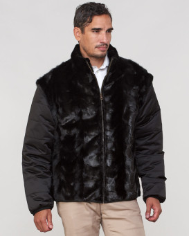 Patrick Mink Fur Reversible Down Filled Jacket for Men