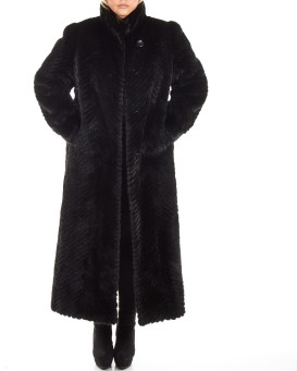 Plus Size Anastasia Sculpted Mink Full Length Coat