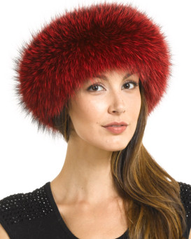 Scarlet Red Fox Fur Diadema