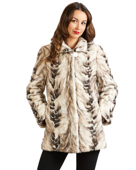 Isabella Reversible Sculpted Bleached Mink Jacket