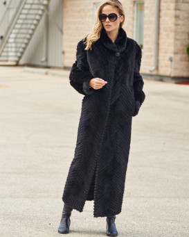 Anastasia Sculpted Mink Full Length Coat