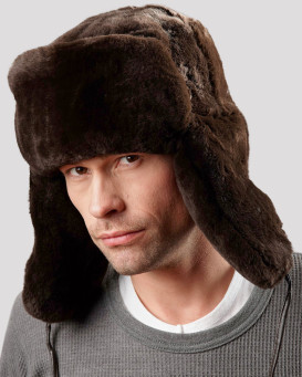Sheared Beaver Full Fur Russian Hat for Men