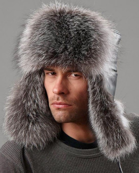 The Silver Fox Fur Russian Trooper Hat for Men