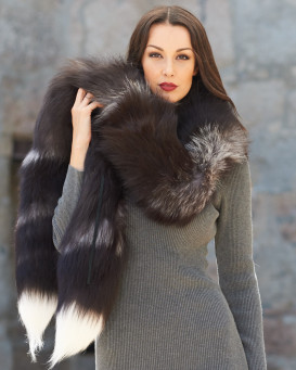 The Paula Silver Fox Fur Boa Scarf