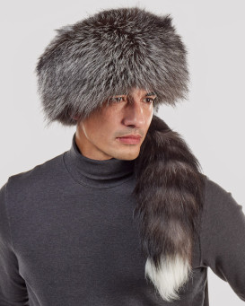 Silver Fox Pelz Hut von Davy Crockett