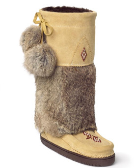 Snowy Owl Mukluk with Vibram Sole in Tan