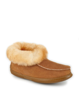 Rubber Sole Sheepskin Deck Slippers