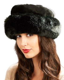 Stunning Faux Fur Cuff Hat - Black