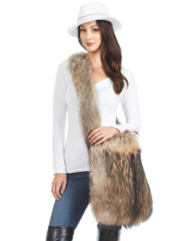 Summer Finn Raccoon Fox Fur Sling Bag