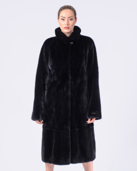 Tessie Black SAGA Mink Fur Coat