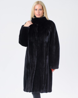 The Amber BLACKGLAMA Long Mink Fur Coat