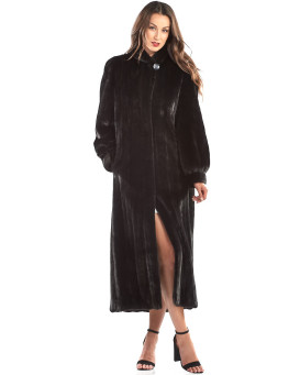 The Inessa BLACKGLAMA Mink Full Length Coat