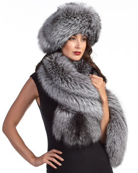 The Liberty Silver Fox Fur Stole