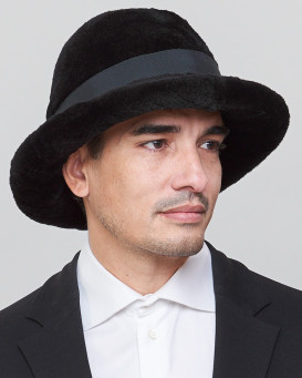 Vincent Sheared Mink Fur Fedora Hat for Men