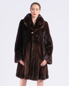 Tinsley Mahogany SAGA Mink Fur Princess Coat